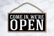 Come In We Are Open Signs For Business Owners Wood Sign Nostalgic Antique Style