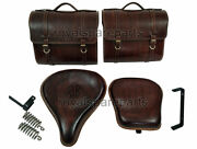 Royal Enfield Classic 350cc 500cc Front And Rear Seat With Luggage Bags