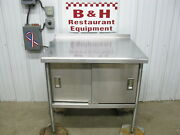 36 Stainless Steel Kitchen Work Table Cabinet W/ Under Shelf 2 Doors 3and039 X 30