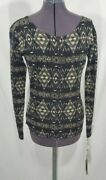 Nos Vtg Country Button Cardigan Top M Native Indian Aztec Usa Made
