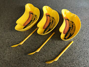 Andy Warhol Plastic Banana And Hotdog Dessert Dishes Set Of 3 With Spoons New