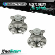 2x Rear Wheel Hub And Bearing W/ Abs For 1993-2001 2002 Chevy Prizm Toyota Corolla