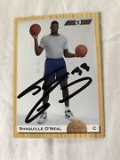 Shaquille O'neal Autographed On Card 1994 Classic Rookie Card W/coa Very Rare