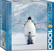 Eurographics Penguin And Chick Small Box Puzzle 1000 Pieces