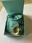 Aut And Co Elsa Peretti 18k Yellow Gold Eternal Circle Long Cord Necklace