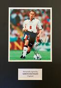 Gareth Southgate Hand Signed 12x8 England Photo In 16x12 Mount Display