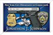 Police,nypd,new York,city,corrections,department,retirement,badge,gift