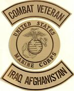 Us Marine Corps Combat Vet Iraq Afghanistan Military Motorcycle Lot/ 3 Patches