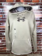 Nwt Under Armour Cold Gear Beige Camo Real Tree Sweatshirt Hoodie Womens Size L
