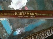 Antique Kurtzmann Piano Advertisement Wooden Plate From Player Piano