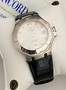 Men's 5,200 Stainless Concord Saratoga Watch Diamond Dial 37mm Box And Papers