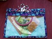 Handmade Clear Fronted Zipped Storage Pouch Small Sewing Project Travel Gift
