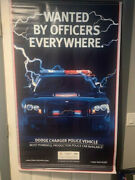 Vintage 2007 Dodge Charger Police Vinyl Poster Wanted By Officers Everywhere