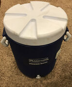 Rubbermaid Gott Blue Drinking Water Cooler 5 Gallon 20l Capacity Lid And Spout