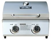 New Quality 19 2 Burner Tabletop Stainless Steel Propane Gas Grill