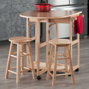 Collapsible Dining Table Chair Set Drop Leaf Compact Folding Kitchen Island Cart