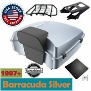 Baracuda Silver Chopped Tour Pack For Harley Davidson Touring 1997-2020