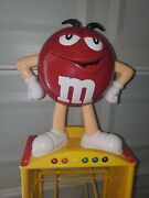 Red Mandm Store Candy Display 8 Shelf Wheels And 69 Tall Kyle Busch Cars