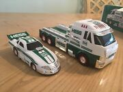 2016 Hess Toy Truck With Dragster Gift Collectible Nib