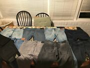 Allsaints And Nudie Jeans - Lot Of 9 Pairs Of Menand039s Jeans - 33-34w - 30-32l