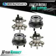 2x Front + 2x Rear Wheel Hub And Bearing Assy For 2010-2015 Toyota Prius / Plug-in