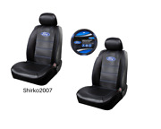 New Pair Ford Synthetic Leather Sideless Seat Covers And Steering Wheel Cover