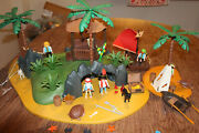 Playmobil Turtle Cove /pirate Islands,raft, Shark And Other Items 3799 W/manual