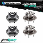 2x Front + 2x Rear Wheel Hub And Bearing For 2007-09 2010 Expedition Navigator 4wd
