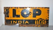 19th Vintage Old Collectible Dunlop Tyre End Part Advertising Enamel Sign Board