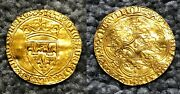 French Gold Coin Charles Vi Ecu Dand039or 2e Emission Tours