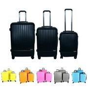 Calitek Abs 3 Piece Suitcase Set With Wheels And Lock