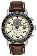 Citizen Eco-drive Brycen Menand039s Chronograph Tachymeter 44mm Watch Ca0649-06x