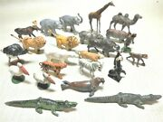 Collection Of 24 1940s Charbens London Hollow-cast Lead Zoo Animals. Some Rare