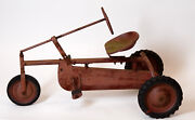 Vintage Toy Tricycle Trike Ride On Tractor Pedal Car