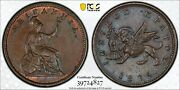1835 Ionian Islands Lepton Pcgs Ms65 Bn Copper Registry Coin Km34 Gold Shield