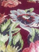 Vintage 1940and039s Cottage Floral Cuddlecloth Barkcloth Fabric Textured Mint Unused