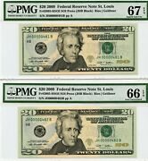 20 - 2009 Federal Reserve Note - Fr.2095-hsoi - Sequential Notes- Low Serials