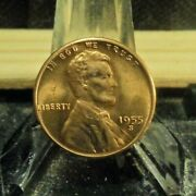 Uncirculated 1955s Lincoln Wheat Penny8311934.....free Domestic Shipping