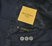 Nwt 1795 44l Hickey Freeman Current Cashmere Silk Navy Blue Trench Coat