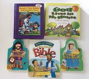 Bible Stories Childrens Lot Of 5 Board Books Preschool Christian Ages 4-6 Years
