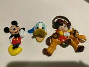 3 Vintage Disney Mickey Mouse And Donald Duck Refrigerator Magnets