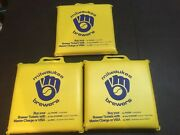 3 Vintage Milwaukee Brewers Old County Stadium Seat Cushions