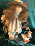Ladie And Friends - Lizzie High Dolls - Lizzie High W/ Books And Goose