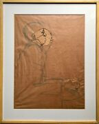 Unique Mid Century 50s African American Art Study Motion Jazz Music Piano Signed
