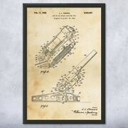 Framed Howitzer Cannon Print Artillery Wall Art Munitions Technician Army Gifts