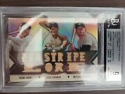 2012 Topps Triple Threads Relic Combo Sepia /27 Ruth Mantle Gehrig 9grade Pop2