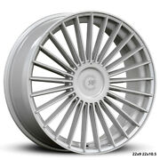 """22"""" Rf22 Silver Polish Concave Wheels For Mercedes W222 S550 S560 S63 22x9 /10.5"""