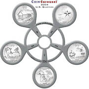 2004 50 State Quarter Coin Carousel - Includes The 5 2004 U.s. Mint Quarters