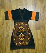 Ginger Mary Sweater Dress Size Small Brown Orange