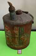 Antique Atlantic Quality Lubricants 5 Gallon Tractor Engine Oil Can Container